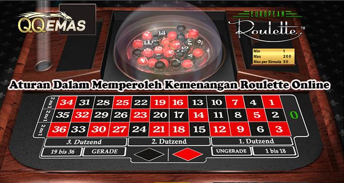 Aturan Dalam Memperoleh Kemenangan Roulette Online